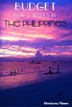 Budget for 2 Weeks In The Philippines | http://adventurousmiriam.com/budget-for-2-weeks-in-the-philippines/