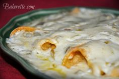 Although these sour cream chicken enchiladas look totally fattening, they are low in fat and absolutely scrumptious! And did I mention they are made with cheese?
