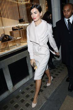 Camilla in Ferragamo coat