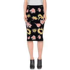 Moschino Cheapandchic Knee Length Skirt ($205) ❤ liked on Polyvore