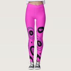 Discover Yoga leggings at Zazzle! Start your search today! Yoga Leggings, Pink Black, Circles, Designers, Collection, Women, Fashion, Moda, Fashion Styles