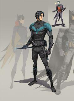 Nightwing by Dan Mora, via Behance