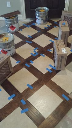 Great idea for a floor. Tile with either a hardwood or LVT plank to frame it. Great way to get a different look in your home. Wall Tiles Design, Frame It, Oklahoma City, Tile Patterns, Plank, Tile Floor, Hardwood, Design Inspiration, Flooring