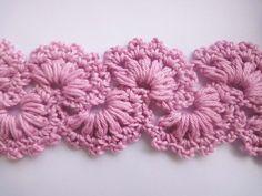 Tape crochet, motif strip, Ленточное кружево Ribbon Lace Crochet