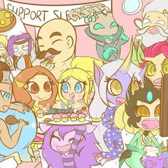 Supports party🎊 League of legends