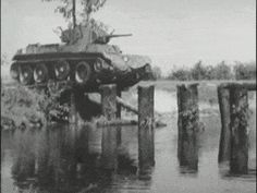 """ TANKS for not completing the bridge properly you fucking incompetent army engineers !! You would have done the required overtime if you were driving this ONE WAY 'submarine' !! It weighs quite a lot, so kinda sinks really quickly !!! "" But this tank commander drove his tank perfectly in a vehicle that has no windscreen !! Impressive driving or just went for it and got away with it ? (A bit of both no doubt !!)"