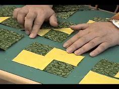 Shaded Four Patch Block by Billie Lauder - YouTube.    A - 2.5 x 2.5 (cut 2).  B - 2.5 x 3.5 (cut 2).  C - 4.5 x 5.5 (cut 1)