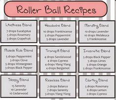 Roller ball ideas- Doterra