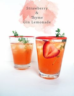 Strawberry + Thyme Lemonade #realsimple