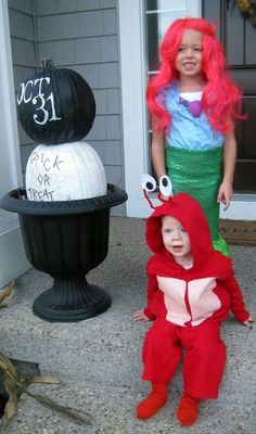 Little Mermaid Halloween Costumes for Siblings