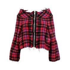 Comme des Garçons tricot 2004 Pink Checked Cropped Jacket