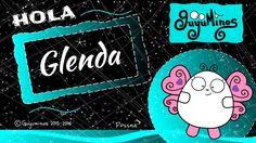 """Hola Glenda... Tu Nombre al estilo Guyuminos! Sabías que Glenda deriva de 2 palabras en Galés, Glan que significa """"puro, limpio"""" yda, que significa""""bueno"""".  :D *Glenda: A name created in the 20th century from the Welshelementsglân""""pure, clean"""" andda""""good"""".  Comparte los nombres de tus familiares y amigos que encuentres! #glenda #nombres #significado #guyuminos #cute #gif #ilustracion #mariposa"""