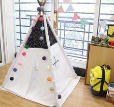 STAR Teepee Tent with lights Christmas SALE 30 % - Tipi couponcode- christmas16 by NestleInATeepee on Etsy