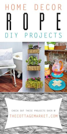 Home Decor Rope DIY Projects