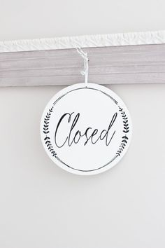Whimsical Open and Closed Business Sign Custom Sign Store