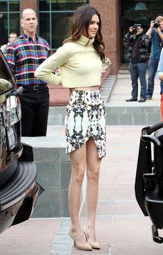 Kendall Jenner. Love her skirt