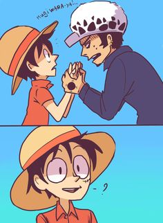 Luffy x Law LOVE    Will you make me the happiest captain alive, and form an alliance with me? xD