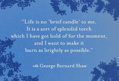 Life is no brief candle