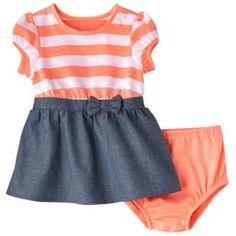 Cherokee® Newborn Infant Girls' Short-Sleeve Dress Set