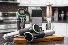 The Best Sous Vide Gear | If you're looking to get into sous vide, the way to go is the Anova Precision Cooker WI-FI. It's made by a lab equipment manufacturer with a reputation for making accurate water baths, and though it costs only $200 at the time of writing, it provides temperature precision on par with much more expensive machines.