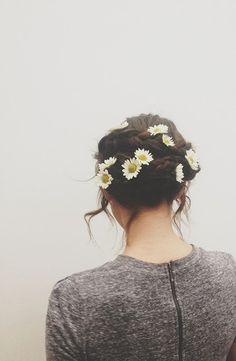 Flower child updo