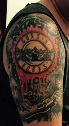 guns n roses tattoo motive tattoo tattooed tattoos shoulder tattoos pinterest guns. Black Bedroom Furniture Sets. Home Design Ideas