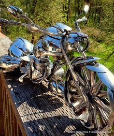 The Bagger Motorcycle Spoon Art Custom by EverlastingSpoonful