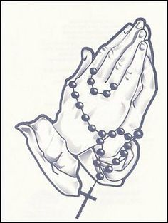 "Praying Hands w/Rossary Temporaray Tattoo by Tattoo Fun. $3.95. This is a black and white Temporary tattoo of a pair of hands praying wrapped in a rosary. It measures approx 3 1/2"" long x 2 1/2"" wide."