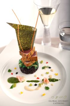 ahi tuna tower from global gourmet catering