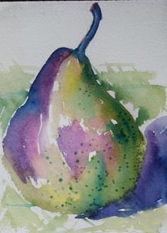 Pear - Watercolor