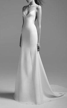 Alex Perry Bride Kristen Satin Bikini Gown