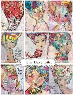 Examples with Jane's stencils - jane-davenport