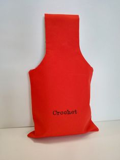 CROCHET Red Reversible Yarn Bag for Fiber Artists by TheSteadyHand