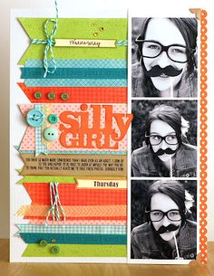 Love this layout by Jen Gallacher of her daughter and the story behind it is precious too.