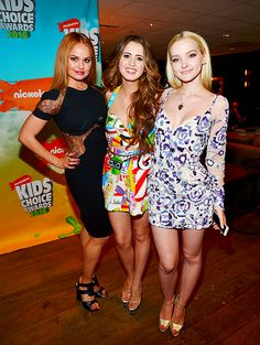 "allydawson: "" Laura Marano, Dove Cameron and Debby Ryan at the 2016 Kids' Choice Awards. """