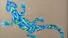 MAGICAL JUNGLE - coloring on craft paper - prismacolor pencils