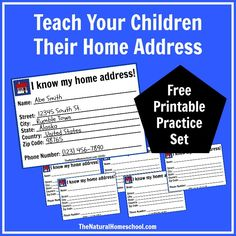 In this post, you will find important information on how your children can learn their home address and telephone number by using our free printable cards and reading some books.