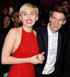 Miley Cyrus and her boyfriend Patrick Schwarzenegger attended a Pre-Grammys Gala and Salute to Industry Icons at the Beverly Hilton Hotel on Saturday, Feb. 7.