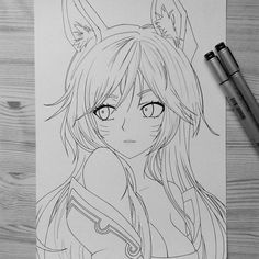 Image result for ahri drawing