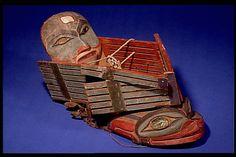 Tlingit headdress. 19th century. AMNH collection. @cargocultist