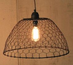 Chicken Wire Basket Pendant