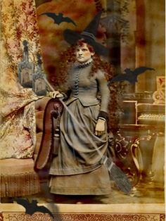 ✯ Altered Witch Vintage Photograph .. By Kate Bangs✯
