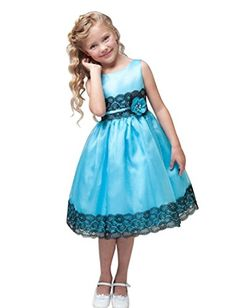Shiny Toddler High Quality Flower Girl Birthday Party Dress Blue M5 *** Learn more by visiting the image link.