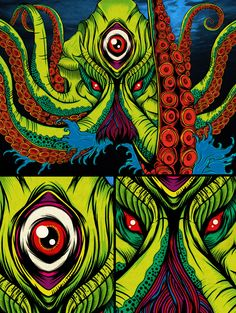 Pale horse illustrations #illustration  #kraken #octopus