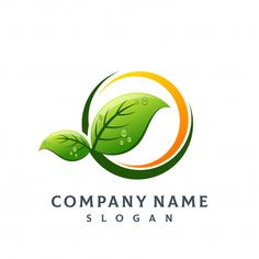 Organic vectors, photos and psd files Food Logo Design, Logo Food, Tea Logo, Company Logo, Company Names, Green Logo, Professional Logo Design, Tree Leaves, Typography Logo
