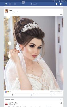 Hair Styles 2019 - Just another WordPress site Bride Makeup, Wedding Hair And Makeup, Hair Makeup, Romantic Wedding Hair, Wedding Bride, Wedding Pinterest, Bride Hairstyles, Bridal Looks, Prom Hair