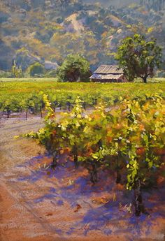 Languid Afternoon by Clark Mitchell Pastel ~ 18 x 12