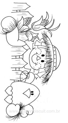 fall coloring page Thanksgiving Coloring Pages, Fall Coloring Pages, Halloween Coloring Pages, Adult Coloring Pages, Coloring Pages For Kids, Coloring Books, Coloring Sheets, Moldes Halloween, Autumn Art