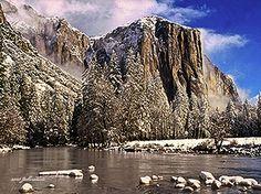 Beautiful digital painting of Yosemite in Winter