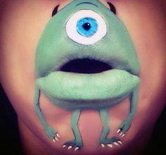Personnages dessins animés, maquillage, lèvres, laura Jenkinson, make up artist, insolite